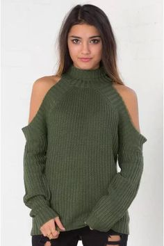 Ellady Stylish Cold Shoulder Sweater