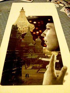 A Meditation | JLWojinski handcut and assembled found image collage