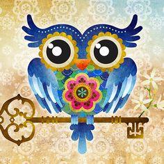 Spring Guardian Owl