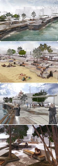 Beautifully visualized... Proposal for a public space