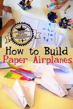 Making paper airplanes together - fun springtime activity for the whole family