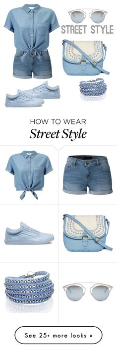 """Untitled #1"" by mayaa19 on Polyvore featuring LE3NO, Miss Selfridge, Vans, Sif Jakobs Jewellery, T-shirt & Jeans and Christian Dior"