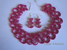 Free Form Quilling - Paper Quilling Half Curve Jewelry Set (FAH242) (1)