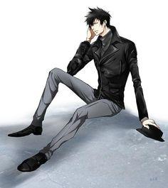 狡噛さんの皮ジャン姿がアレな感じだったので普通の人っぽく見えるような組み合わせを・・・なんとか・・・考えてみたんですけど・・・もう、狡噛さんは黒スーツでいいです・・・って思いました。