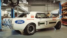 This classic and heavily modified 1967 Ford Mustang race car instead of being put in the museum, he is doing his job for what he was built for. This Mustang