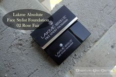 """Lakme Absolute Face Stylist Foundation """"02 Rose Fair"""" Swatch, Review And FOTD Base Makeup, Eyeshadow Base, Cc Cream, Concealer, Swatch, Foundation, Stylists, Cards Against Humanity, Rose"""