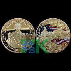 Eua presidente Obama - moeda comemorativa pentágono(China (Mainland))