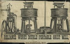 Reliance Works Double Portable Grist Mill | Print | Wisconsin Historical Society