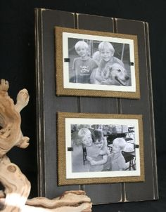 Distressed Wood Beach Frames - Double (10 Colors): The Southern Home ~ Home Furnishings, Shabby Chic, French Country & Cottage Decor
