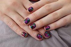nail design | Nail Design with Contrast in The Dark Theme | Nail Art Designs