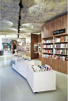 Bookstore Café Interior Design Idea - ArchInspire