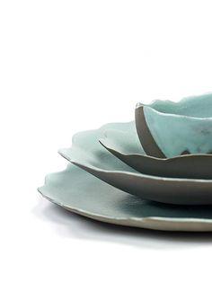 Dols & Martens 系列 │ 湖水藍盤皿