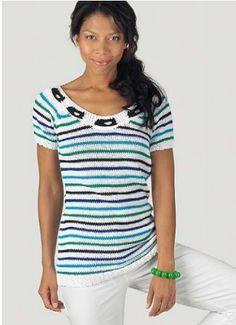 Jemně pruhované tričko Pantino | PLETENÍ – NÁVODY