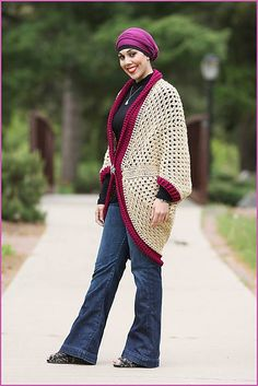 Ravelry: Granny Square Cardigan pattern by Nadia Fuad