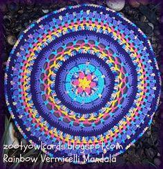 Rainbow Vermicelli Mandala Motif By Zelna Olivier - Free Crochet Pattern - (ravelry)