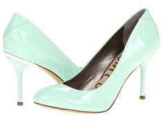 Sam Edelman Camdyn in Light Green with Metallic Wrapped Heel from zappos.com