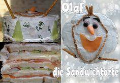 Olaf Torte, Olaf Schneemann Sandwichtorte, einfache Partyrezepte  -Schnelle Rezepte für viele Personen benötigt? Eines habe ich hier für Euch, eine leckere Sandwichtorte à la Olaf der Schneemann. Eine Olaf Torte der anderen Art. Durchaus auch als Weihnachtsrezepte für Kinder geeignet (und nicht nur)