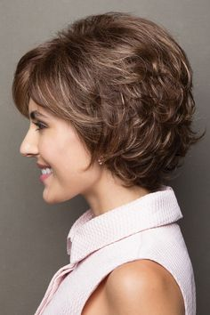 Textured bob wig with a tousled finish.Length: Fringe Crown Nape Weight: oz Cap Size: Average Color Shown: Auburn Sugar R, Toasted Brown W Mom Hairstyles, Trending Hairstyles, Short Hairstyles For Women, Shaggy Bob Haircut, Short Bob Haircuts, Medium Hair Styles, Curly Hair Styles, Textured Bob Hairstyles, Short Wigs