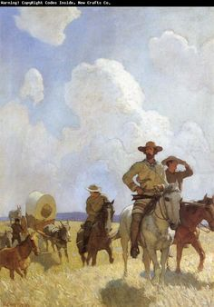 """""""The Parkman Outfit - Henry Chatillon, Guide and Hunter,"""" illustration from """"The Oregon Trail,"""" by Francis Parkman Jamie Wyeth, Andrew Wyeth, Art And Illustration, Illustrations, Nc Wyeth, Westerns, Howard Pyle, West Art, Cowboy Art"""