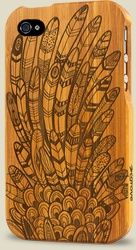 Feathers (Bamboo iPhone Case)
