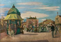 Great Yarmouth, Norfolk by Harry Rutherford 1932 (Central Art Gallery, Ashton-under-Lyne). Brunswick Street, Great Yarmouth, England Ireland, Historian, Newcastle, Norfolk, All Art, Art Gallery, Scotland