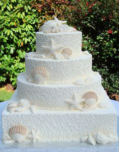French Lace Wedding Cake from Casual Gourmet in Cape Cod