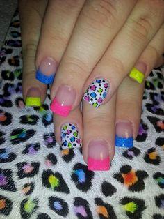 Multi colored leopard