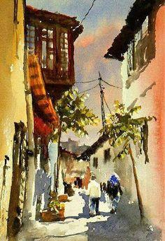 Por amor al arte: Mineke Reinders Japanese Watercolor, Watercolor Landscape, Watercolour Painting, Landscape Paintings, Watercolours, Oil Painting Pictures, Art Pictures, Art Studies, Islamic Art