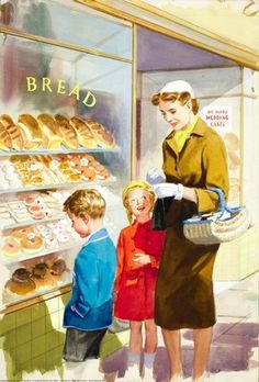 Baker's - Shopping with Mother - Ladybird Books 1958....reépinglé par Maurie Daboux ❥•*`*•❥