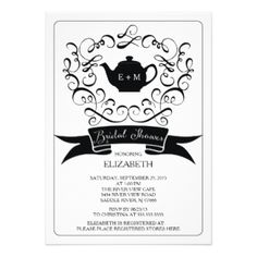 Elegant teapot bridal shower invitation bachelorette party find customizable teapot bridal shower invitations announcements of all sizes pick your favorite invitation design from our amazing selection filmwisefo Gallery