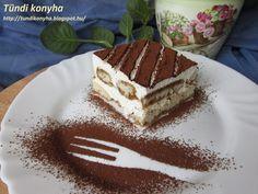 Tündi konyha: Tiramisu-tojás nélküli krémmel Tiramisu, Deserts, Baking, Ethnic Recipes, Food, Cakes, Cake Makers, Bakken, Essen