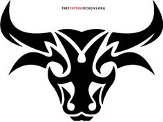 Bull head tattoo design