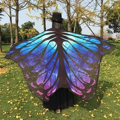 9.94$  Watch here - http://dizyg.justgood.pw/go.php?t=204746601 - Galaxy Chiffon Butterfly Wing Cape