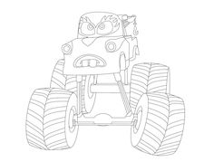mater tall tales coloring monster truck form - Monster Truck Mater Coloring Page