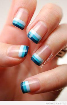 Bild über We Heart It https://weheartit.com/entry/131517189/via/13601841 #blue #nailart #nails