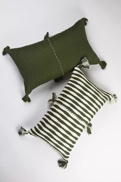 Archive New York Olive Green Antigua Pillow | Anthropologie