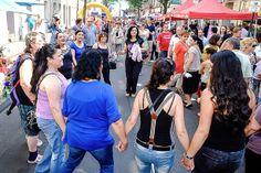 Kulturfest Birlikte auf der Keupstraße - dort, wo vor 10 Jahren die rechtsextremen Anschläge passierten.