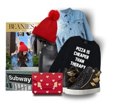 """Beanie City"" by interesting-times ❤ liked on Polyvore featuring ASOS, Moschino, Filles à papa, Giuseppe Zanotti, Retrò, Sophie Hulme and beanie"