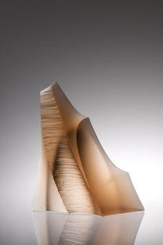 Peter Bremers, Vision Quest, 2010, Kiln-cast glass, 16x18x6