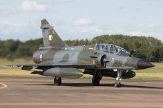 French display team Ramex Delta flies a pair of Dassault Mirage 2000Ns in close…