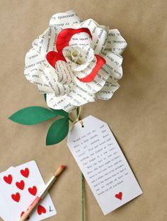 Alice in Wonderland Paper Rose