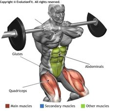 QUADRICEPS - FRONT SQUAT                                                                                                                                                                                 Mais