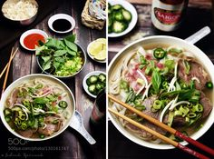 Pic: Pho bo  Vietnamese beef noodle soup