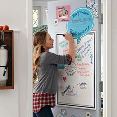 Dry-Erase Message Board Decal - perfect for your dorm room!  ~ we ❤ this! moncheriprom.com #dormroomdecorations