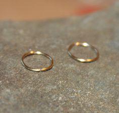 20 Gauge Cartilage/Nose Hoop Earrings in 14K Gold by CuteHoopsbyJS