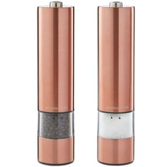 Andrew James Large Stainless Steel Electronic Salt And Pepper Mill Set In Copper Finish, Illuminates as it Grinds - Includes 2 Year Warranty:… Salt And Pepper Mills, Salt And Pepper Grinders, Electric Pepper Grinder, Kettle And Toaster Set, Steel Mill, Breakfast Set, Copper Accents, Copper Kitchen, Le Moulin