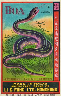 Collection of Chinese Firecracker Labels by Mike McHenry