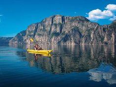 Kayaking Lysefjorden, Norway