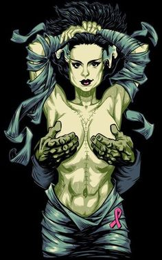 * The Bride of Frankenstein Pin Up *