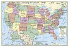 Kappa Map United States Rolled Map, Paper,  40 x 28 in.  I'd like to use this to cover the table in our pop-up